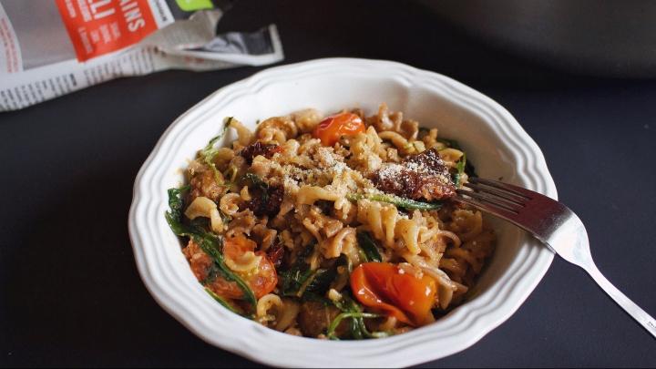 Recette: pâtes à la saucisse italienne (sansgluten)